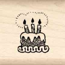 Cake Little Rubber Stamp