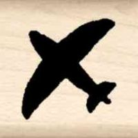 Plane Little Rubber Stamp