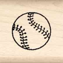 Baseball Little Rubber Stamp