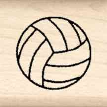 Volleyball Little Rubber Stamp