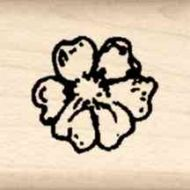 Flower Little Rubber Stamp