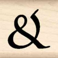 Ampersand Little Rubber Stamp