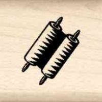 Scroll Little Rubber Stamp