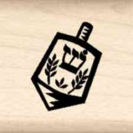 Dreidel Little Rubber Stamp