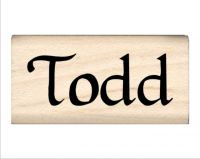 Todd Name Rubber Stamp