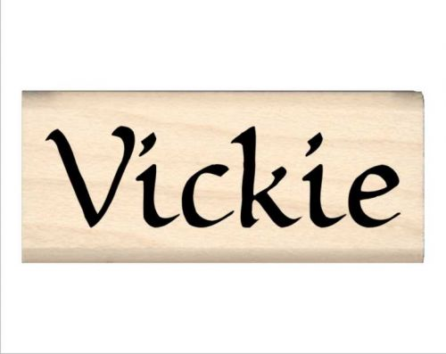Vickie Name Rubber Stamp