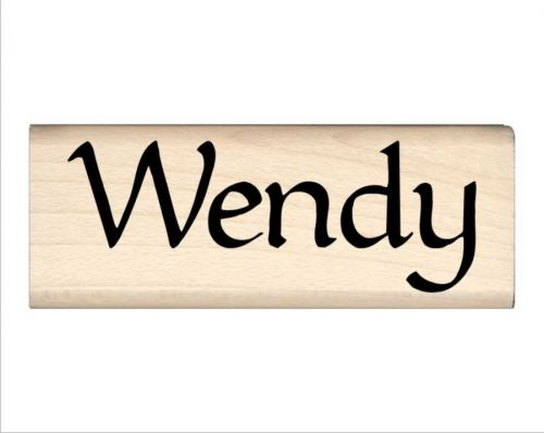 Wendy Name Rubber Stamp